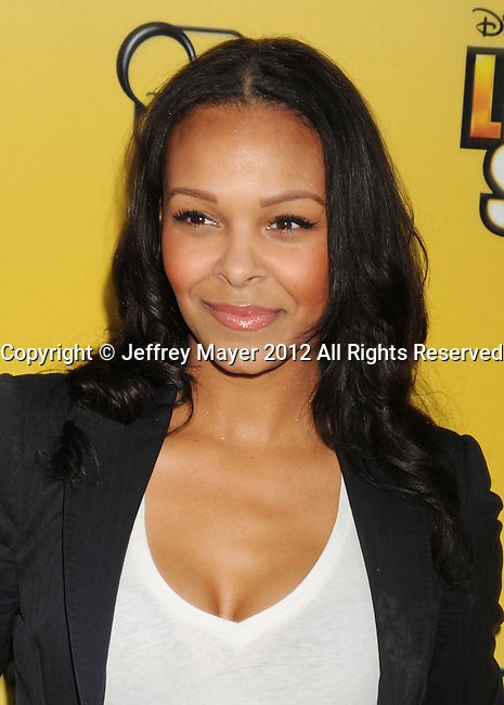LOS ANGELES, CA - JUNE 05: Samantha Mumba attends Disney's 'Let It Shine' Premiere held at The Directors Guild Of America on June 5, 2012 in Los Angeles, California.