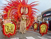 EC-Carnival Parade with HAL Koningsdam at Pier in Background - S. Caribbean Cruise, Oranjestad Aruba