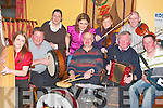 At the launch of Fleadh by the Feale on Thursday night were Musicians front l-r Suzanne Quille, (Harp), Pat Mulcahy (Drums), Dan Murphy, D J Curtin ( Accordion).  Back l-r John Foly (Bodhran).Mairead Curran (piano), Eilis Murphy, (Flute), Nicole Doyle and Denis Curtin (Fiddle)...   Copyright Kerry's Eye 2008