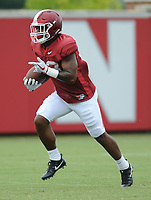 NWA Democrat-Gazette/ANDY SHUPE<br /> Arkansas running back David Williams carries the ball Tuesday, Aug. 1, 2017, during practice at the university's practice field in Fayetteville. Visit nwadg.com/photos to see more photographs from the day's practice.