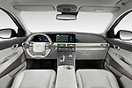 Stock photo of straight dashboard view of 2019 Hyundai Nexo Limited 5 Door SUV Dashboard