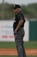 MLB Umpire Joe West during a Houston Astros vs. Florida Marlins game March 15th, 2007 at Osceola County Stadium in Kissimmee, FL during Spring Training action.  Photo By Mike Janes/Four Seam Images