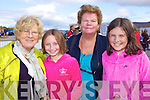 Mary McCarthy, Tara O'Shea, Mary Falvey and Roisin Riordan pictured at Glenbeigh Races at Rossbeigh Beach on Sunday.