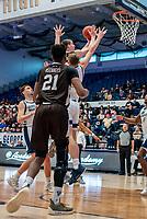 WASHINGTON, DC - JANUARY 5: Bobby Planutis #10 of St. Bonaventure goes up for a shot during a game between St. Bonaventure University and George Washington University at Charles E Smith Center on January 5, 2020 in Washington, DC.