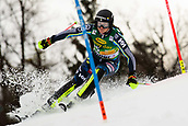 2nd February 2019, Maribor, Slovenia;  Sara Hecktor of Sweden in action during the Audi FIS Alpine Ski World Cup Women's Slalom Golden Fox on February 2, 2019 in Maribor, Slovenia