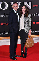 Harry Hadden-Paton, Rebecca Night <br /> Premiere of The Crown, a new Netflix TV series about the reign of Queen Elizabeth II, at Odeon Leicester Square, London, England November 01, 2016.<br /> CAP/JOR<br /> &copy;JOR/Capital Pictures /MediaPunch ***NORTH AND SOUTH AMERICAS ONLY***