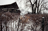 December 1985 - East Greenbush, New York - The Worthman farm in the snow.