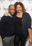 Christopher Windom and Liesl Tommy  attends the photocall for the Vineyard Theatre production of 'Kid Victory' at Ripley Grier on January 5, 2017 in New York City.