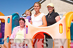 REFUGE: Staff of the ADAPT Kerry Women's Refuge in the playground of the centre in Tralee, front: Anne Marie Foley (General Manager). Back, l-r: Helen Smith, Nicola Canty, Linda Dennehy.   Copyright Kerry's Eye 2008