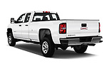 Car pictures of rear three quarter view of a 2017 GMC Sierra 3500HD Double 4WD Cab Long Box 4 Door Pick Up angular rear