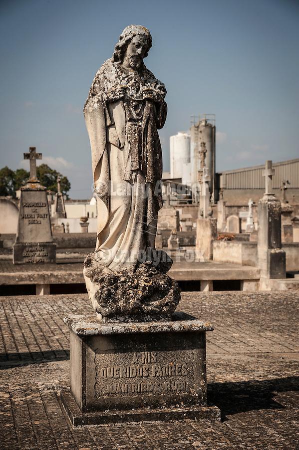 Headstones in the cemetery, Petra, Mallorca