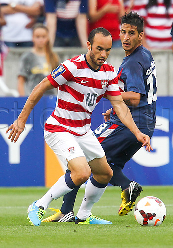 13.07.2013. Sandy, Utah, USA. US Men's National midfielder Landon Donovan (10) during the CONCACAF Gold Cup soccer match between USA Men's National team and Cuba at Rio Tinto Stadium in Sandy, UT. USA.