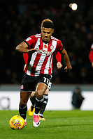 Ollie Watkins of Brentford during the Sky Bet Championship match between Brentford and Leeds United at Griffin Park, London, England on 4 November 2017. Photo by Carlton Myrie.