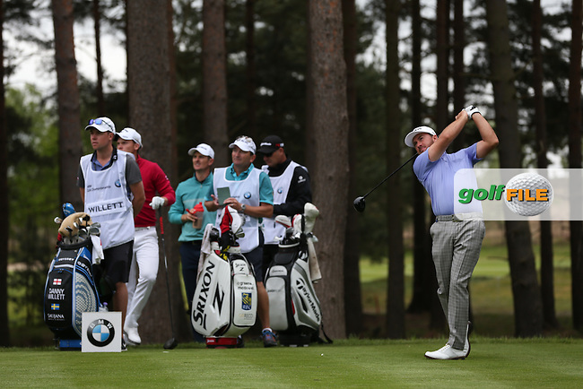 Graeme McDowell (NIR) drives from the 11th during Round Two of the 2015 BMW PGA Championship over the West Course at Wentworth, Virginia Water, London. 22/05/2015Picture David Lloyd, www.golffile.ie.