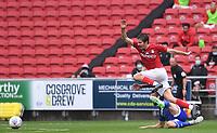 4th July 2020; Ashton Gate Stadium, Bristol, England; English Football League Championship Football, Bristol City versus Cardiff City; Joe Ralls of Cardiff City competes for the ball with Adam Nagy of Bristol City