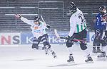 Uppsala 2014-01-12 Bandy  IK Sirius - GAIS Bandy :  <br />  GAIS Eric Claesson jublar i sn&ouml;yran efter att ha gett GAIS Bandy ledningen med 3-2 p&aring; h&ouml;rna<br /> (Foto: Kenta J&ouml;nsson) Nyckelord:  jubel gl&auml;dje lycka glad happy
