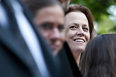 Actress Sigourney Weaver waits in the crowd at an Earth Day reception in the Rose Garden at the White House in Washington, D.C., U.S., on Thursday, April 22, 2010. .Credit: Brendan Hoffman - Pool via CNP