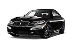 Stock pictures of low aggressive front three quarter view of 2017 BMW 2-Series M240i 2 Door Coupe Low Aggressive