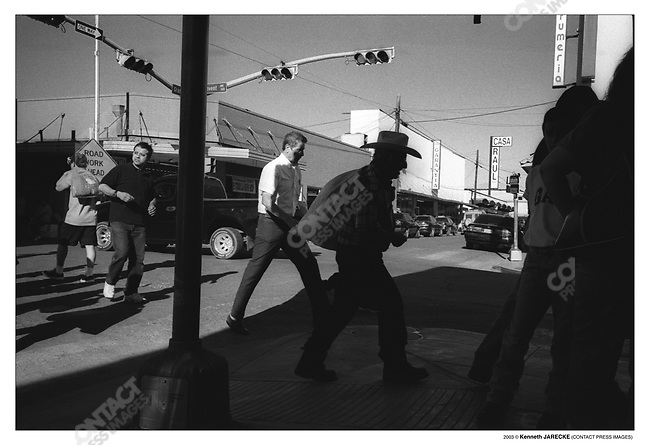 Streets of border town, Laredo, Texas, March 2003.