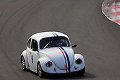 A 1969 Volks Beetle competing in the Fall Classic Vintage race at Circuit Mont-Tremblant in Quebec