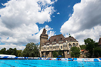General view training pool <br /> Synchronised swimming , Synchro<br /> 12/07/2017 <br /> XVII FINA World Championships Aquatics<br /> City Park - Varosliget Lake<br /> Budapest Hungary <br /> Photo Andrea Staccioli/Deepbluemedia/Insidefoto