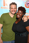 Jeff Marx and Danielle K. Thomas attends the 'Avenue Q' - 15th Anniversary Performance Celebration at Novotel on July 31, 2018 in New York City.