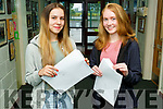 Patrycja Holewa (Abbeyfeale) and Fiona O'Connor (Ballymac) receiving their Leaving Cert results on Tuesday morning at the Castleisland Community College