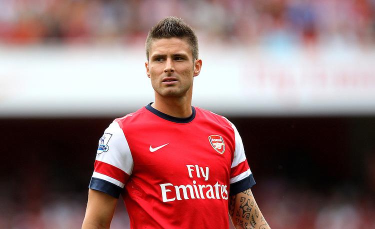Arsenal's Olivier Giroud ..Football - Barclays Premiership - Arsenal v Southampton - Saturday 15th September 2012 - Emirates Stadium - London..