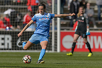 Bridgeview, IL - Saturday May 06, 2017: Katie Naughton during a regular season National Women's Soccer League (NWSL) match between the Chicago Red Stars and the Houston Dash at Toyota Park. The Red Stars won 2-0.