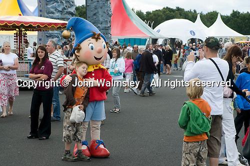 Fairground fun at the Farnborough International Airshow .