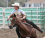 Joan Harding in the ladies barrel racing 60+ age division.
