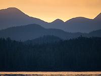 Sunrise over the Pacific coast of British Columbia.