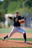Pittsburgh Pirates pitcher Drew Fischer (71) during a Minor League Spring Training game against the Philadelphia Phillies on March 23, 2018 at the Carpenter Complex in Clearwater, Florida.  (Mike Janes/Four Seam Images)