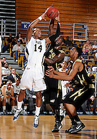 Florida International University guard DeJuan Wright (14) plays against Alabama State University, which won the game 60-57 on December 3, 2011 at Miami, Florida. .