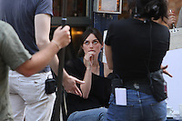 "July 09, 2012 Keira Knightley shooting on location for the new VH-1 film, ""Can a Song Save Your Life ?"" in New York City. © RW/MediaPunch Inc."