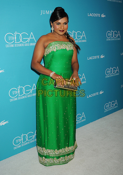 BEVERLY HILLS, CA - FEBRUARY 17: Actress Mindy Kaling attends the 17th Costume Designers Guild Awards at The Beverly Hilton Hotel on February 17, 2015 in Beverly Hills, California.<br /> CAP/ROT/TM<br /> &copy;TM/ROT/Capital Pictures