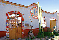 The Casa de Venado Azul, a store specializing in pre-Hispanic musical instruments  in the 19th century mining town of Mineral de Pozos, Guanajuato, Mexico.