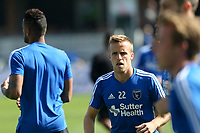 San Jose, CA - Sunday October 21, 2018: Tommy Thompson prior to a Major League Soccer (MLS) match between the San Jose Earthquakes and the Colorado Rapids at Avaya Stadium.