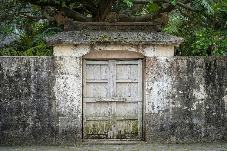 A weathered tomb found within the central grounds of Shuri Castle, Okinawa.