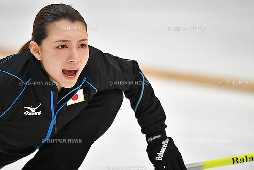 Mari Motohashi (JPN), <br /> FEBRUARY 20, 2017 - Curling : <br /> Women's Round Robin match between<br /> Japan 5-7 Korea <br /> during the 2017 Sapporo Asian Winter Games <br /> at Sapporo Curling Stadium in Hokkaido, Japan. <br /> (Photo by AFLO SPORT)