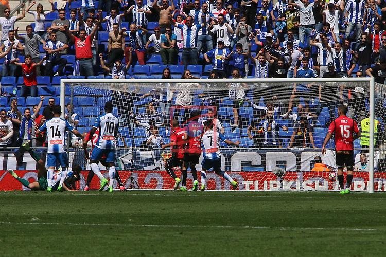 League Santander 2016/2017. Game: 31.<br /> RCD Espanyol vs Deportivo Alaves: 1-0.