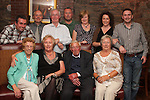 Sean Black and family at his 80th in the Bellewstown Inn...Picture Jenny Matthews/Newsfile.ie