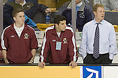 Kenny Ryan, ?, Greg Brown - The Boston University Terriers defeated the Boston College Eagles 2-1 in overtime in the March 18, 2006 Hockey East Final at the TD Banknorth Garden in Boston, MA.