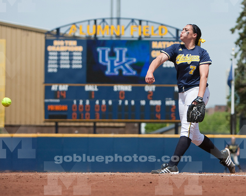 University of Michigan softball 7-6 loss to Kentucky in NCAA Regional play in Ann Arbor, MI, on May 21, 2011.