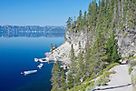 USA, OR, Crater Lake NP, Cleetwood Cove Trail to Boat Dock