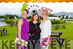 l-r Joanne Murphy from Kilgarvan, Tina Coyne from Kinsale and Elaine Kelleher from Kilgarvan looking glamorous for Ladies Day at the Killarney Races.