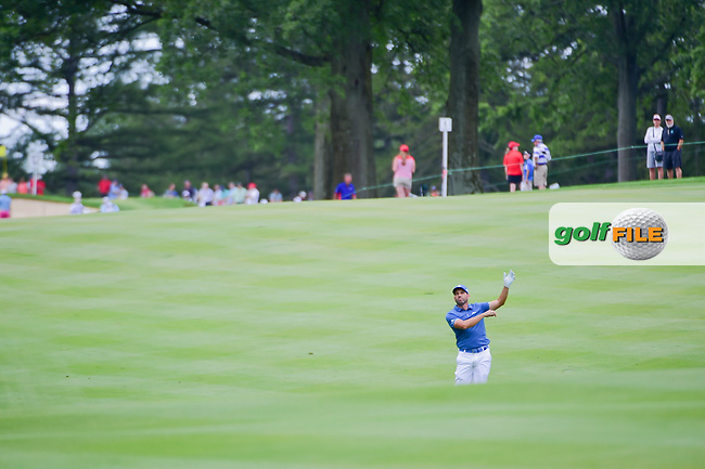 Sergio Garcia (ESP) lets go of his iron after his approach shot on 8 during Sunday's final round of the World Golf Championships - Bridgestone Invitational, at the Firestone Country Club, Akron, Ohio. 8/6/2017.<br /> Picture: Golffile | Ken Murray<br /> <br /> <br /> All photo usage must carry mandatory copyright credit (&copy; Golffile | Ken Murray)