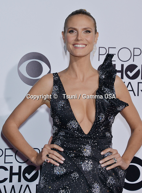 Heidi Klum 217 People Choice Awards 2014 at the Nokia Theatre in Los Angeles.