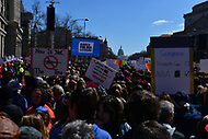 Washington, DC - March 24, 2018: Hundreds of thousands of people gather in Washington, DC for the national March for Our Lives Rally,   March 24, 2018.  (Photo by Don Baxter/Media Images International)
