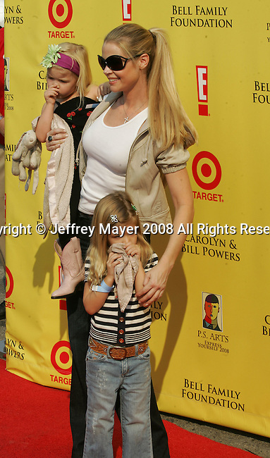 "SANTA MONICA, CA. - November 16: Actress Denise Richards and daughters Sam and Lola arrive at the 11th Anniversary Of P.S. Arts ""Express Yourself 2008"" at the Barker Hanger at the Santa Monica Airport on November 16, 2008 in Santa Monica, California."
